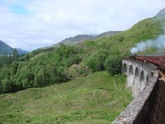 "Hogwarts Express...um I meant ""The Jacobite"" from Fort Williams to Mallaig - amazingly beautiful!"