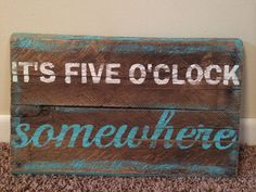 Hand painted rustic pallet wood sign it's by RusakCustomCreations, $25.00