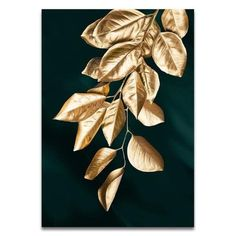 Abstract Golden Plant Leaves Picture Wall Poster Modern Style Canvas P – Homeinsides Gold Wall Art, Leaf Wall Art, Canvas Wall Art, Canvas Prints, Canvas Canvas, Canvas Frame, Framed Prints, Art Prints, Poster Wall