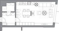 Půdorys malého bytu; RAP partners architekti