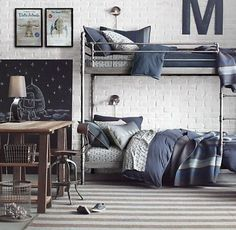 10 great bedrooms for boys, with bunk beds and without them · 10 teen rooms for boys (& some gen Room, Bedroom Design, Loft Bed, Bed, Bunk Bed Rooms, Boys Bedrooms, Loft Bunk Beds, New Room, Kid Room Decor