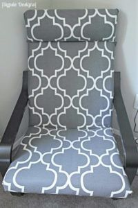 Have an old Poang chair that needs to be recovered? Make it new again with this simple tutorial!