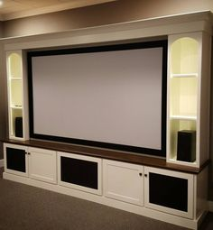 Maple Home Theater Media Center by SpeckCustomWoodwork on Etsy