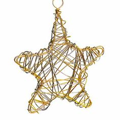 a little star using a cookie cutter to start.....3 ft 18 gauge gold colored wire and then 20-24 gauge colored lightweight wire