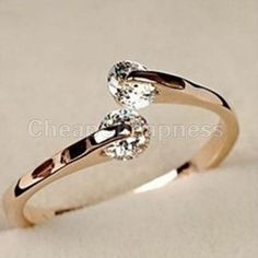 rose gold wedding bands for women | 2014-Vintage-Women-Engagement-Rings-Rose-gold-Open-Mouth-GP-Crystal ...