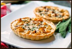 Butternut Squash, Bacon and Blue Cheese Tartlets
