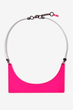 SUCH a cool neon laser cut acrylic necklace