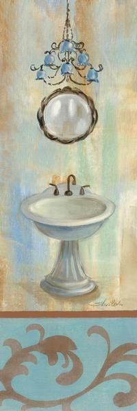 French Bathroom In Blue II Art Print Poster by Silvia Vassileva Online On Sale at Wall Art Store – Posters-Print.com