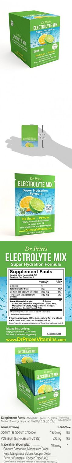 Electrolyte Mix: Super Hydration Formula + Trace Minerals   Lemon-Lime Flavor (30 powder packets) Drink Mix   Dr. Price's Vitamins