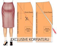 Дефекты посадки юбок и их устранение. Если вы шьете юбку впервые, и фигура имеет особенности, которые вы не учли при построении базовой выкройки юбки