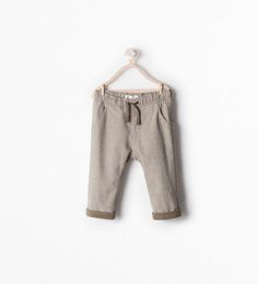 LINED DRAWSTRING TROUSERS