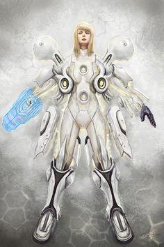 Metroid Prime 2: Light Suit Samus fanart by Raymund Florida