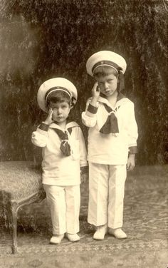 Two children dressed in sailor suits. Murdered by Nazis