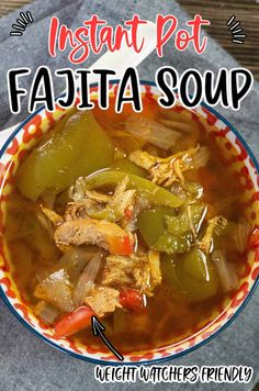 You've never had a hearty soup until you've had this Instant Pot Chicken Fajita Soup. It's a great sipper combined with a hearty taste and texture as well. Best Instant Pot Recipe, Instant Pot Dinner Recipes, Best Dinner Recipes, Delicious Recipes, Low Carb Soup Recipes, Beef Recipes, Easy Recipes, Easy Family Meals, Easy Meals