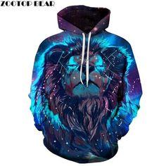 Hoodies Sweatshirt/Men 3D Print Bear,Angry Carnivore Mammal,Sweatshirts for Teen Girls