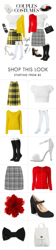 """Besties costumes! Cher and Dionne!"" by anna-spencer246 ❤ liked on Polyvore featuring Junya Watanabe Comme des Garçons, Helmut Lang, P.A.R.O.S.H., Apt. 9, Off-White, Gucci, American Rag Cie, Forever 21, Coach and Prada"