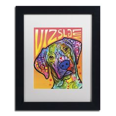 Dean Russo 'Vizsla Luv' Matted Framed Art