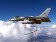 Aircraft Dropping A Missiles