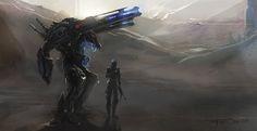 Num9 by FotoN-3 | Digital Art / Drawings & Paintings / Sci-Fi | Futuristic weapon mech suit