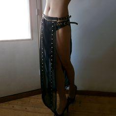 Dream Warriors black chiffon overskirt/ long see by DreamWarriors