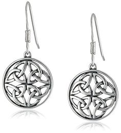 Celtic-Knot Round Drop Earrings #deals