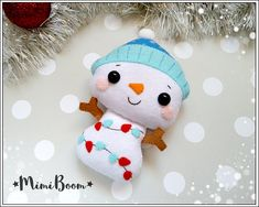 This is a digital tutorial on how to make the Snowman Christmas ornament from felt Included step by step instructions, pictures and full size pattern pieces. (no need to enlarge or resize). Its completely hand sew and you dont need a sewing machine. THIS IS NOT A FINISHED TOY. THIS IS A PDF PATTERN DOWNLOAD. All needed materials you must to purchase yourself. Approx. size of toy is: about 5 inch (12.5 cm) tall. PDF tutorial includes: - Step by step pictures - English step by step instruct...