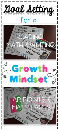 Have you implemented goal setting in your classroom? Too intimidating? No worries, Goal Setting for a Growth Mindset takes care of the planning and progress monitoring for you! Just print and they are ready to go! Reading, writing, and math goal setting i Goal Setting For Students, Smart Goal Setting, Setting Goals, Goals Worksheet, Goal Setting Worksheet, Student Goals, Student Data, 3rd Grade Reading, 4th Grade Math