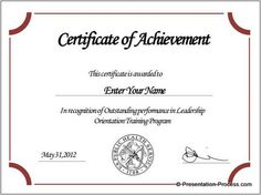 Certificate Template Powerpoint   Powerpoint Template