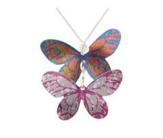 Hand painted butterfly necklace made in and inspired by the wildlife of England Fiorelli, Bold Colors, Colours, Butterfly Necklace, Contemporary Jewellery, Metal Jewelry, Creative Design, Hand Painted, Pendant Necklace