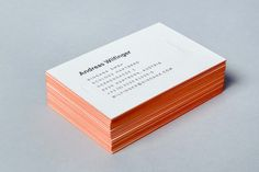 Ringana edge painted business cards designed by Moodley.