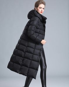 f4896f6dbe9 2018 new womens winter coat Long section Down jacket female have plus size