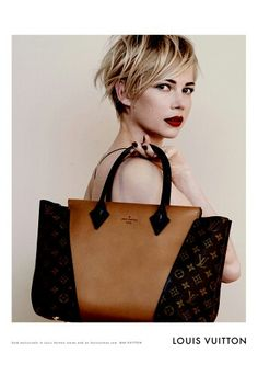 I LOVE Michelle Williams hair and lip colour in this Louis Vuitton ad!  Gorgeous!