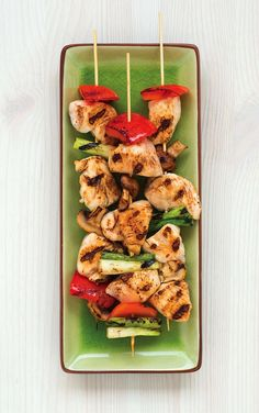 Gluten-free chicken and vegetable yakitori for Superbowl Sunday - also free of top allergens!