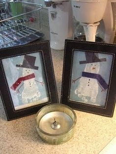 Footprint keepsake/craft = adorable! Christmas gift?