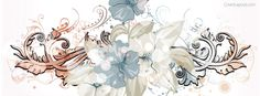 Water Painted Flower Facebook Cover coverlayout.com