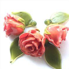 #rose #flower #my365beads2016 #handmade #glass #bead #petrovnalampwork