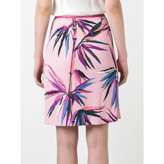 Emilio Pucci palm trees print skirt ($353) ❤ liked on Polyvore featuring skirts, emilio pucci skirt, multicolor skirt, pink skirt, palm leaf skirt and palm print skirt