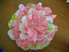 DIY Tutorial Fabric Flowers / Fabric Flowers - Bead&Cord