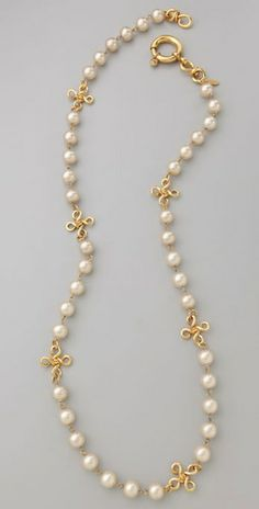 WGACA Vintage Vintage Chanel Pearl CC Necklace