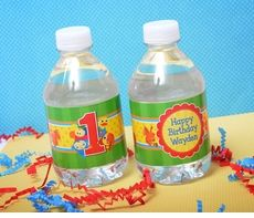 BabyFirst TV Personalized Water Bottle Adhesive Labels