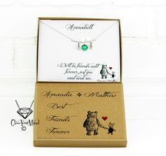 best friends gift we'll be friends until forever Winnie the pooh gift customized friendship jewelry long distance bird necklace hedgehog bff by GlowYourMindJewelry on Etsy
