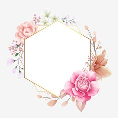 Floral Geometric Frame For Wedding Invitation Composition Vector and PNG Framed Wallpaper, Flower Background Wallpaper, Flower Phone Wallpaper, Flower Backgrounds, Fond Design, Flower Graphic Design, Floral Logo, Instagram Logo, Wedding Frames