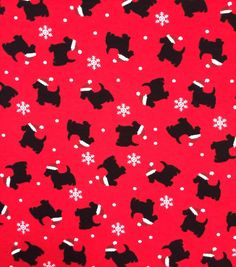 Doodles Christmas Cotton Fabric 57\u0022-Red & Black Santa Dogs, Black Santa, Red Black, Dogs Online, Order Up, Joanns Fabric And Crafts, Craft Stores, Cotton Fabric, Doodles, Projects