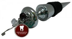 Wine Bottle Stopper wit Custom Dentist charm