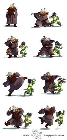 Sweet Moves by *rufftoon / with apologies to bill watterson... / avatar: the last airbender