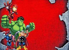 Los Vengadores: Invitaciones para Imprimir Gratis.