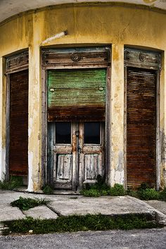 semi closed - Ierapetra, Lasithi Crete, Greek Islands, Britain, Blood, Shabby, Europe, The Incredibles, Memories, Spaces