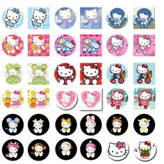 hello kitty graphics free | Folie du Jour: Hello Kitty - Bottle Cap Images
