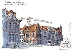 Tournai, rue Saint-Jacques by Gerard Michel