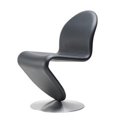 Verner Panton - System 1-2-3 stol - læder